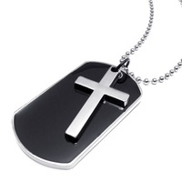 Tidal current male men's Men boys alloy cross pendant necklace accessories