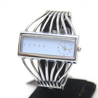 Silver fashion all-match bracelet watch personality bracelet watch women's watch