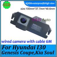 For Hyundai I30/Genesis Coupe/Kia Soul car reaview camera  waterproof Effective Pixels 728*582 Night vision Car backup camera