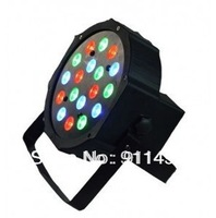 free shipping Megar Par,8pcs x 3W RGB Flat LED Par Lights With DMX512 Master-Slave Stand,BS-5142