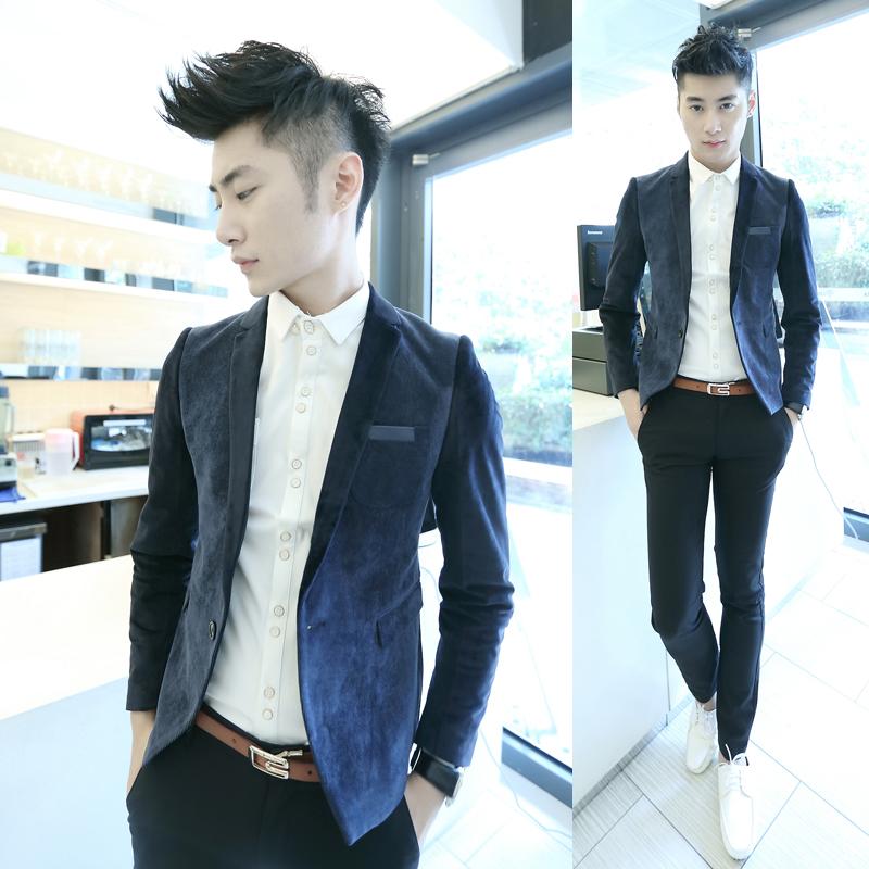 2013 men clothing modern fashion slim blazer male handsome trendy