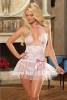 Big plus size lingerie solid sheer sexy sleep wear night dress, M,XL,XXL cheaper price