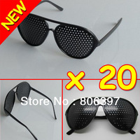 Eye Care Pinhole Pin Hole Glasses Vision Improve Eyewear Eyesight Eyes Exercise