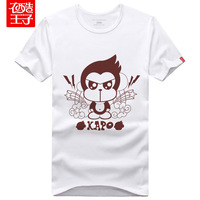 2013 summer lovers kapo monkey lovers short-sleeve print T-shirt plus size