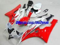 Fairing For 2006 2007 YAMAHA YZF-R6 06-07 YZF R6 YZF600 YZFR6 R6 06 07 HOT Red white body kits