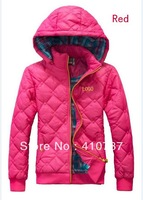 Free Shipping! Women Sports Leisure Hooded Brought Unginned Cotton Coat Cotton-padded Jacket Promotion JJ01