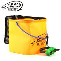 Free shipping EVA fishing box water tank bucket lure box folding bucket bait box fishing tackle