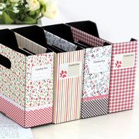 Free shipping Garden Floral Small Desktop Storage Box Finishing Box 5pcs/lot S054