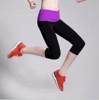 HA01 Thin high waist Casual pants Capris Elastic sports Running women's legging yoga pants women Sports capris for women