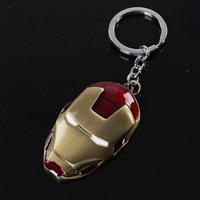 Free shipping Iron man Keychain helmet key pendant mask keychain