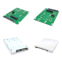 "Free Shipping With Tracking Number 50mm Mini PCI-E mSATA SSD to 7mm 2.5"" SATA 22pin White-color Hard Disk Case Enclosure"