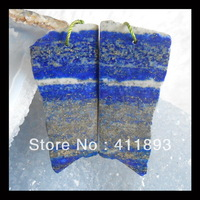Drusy Lapis Lazuli With Pyrite Earring,47X23X3mm,13.75g