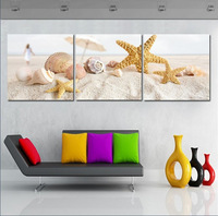 Free Shipping 3 piece wall art Canvas Painting Wall Painting Modern Pictures love beach white style home decor printed paintings