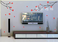 Onwalls tv wall stickers wall stickers wall stickers tv flower wall stickers tv wall flower of wintersweet