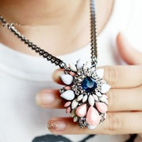 Free shipping 2013 design colorful pendant necklace
