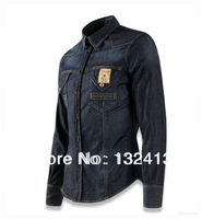 2013 New Fashion Mens Denim Jeans Cowboy Shirts Slim Brand Shirt size M-xxl Free Shipping 2004
