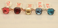 Pretty simple and elegant sapphire crystal ring female New