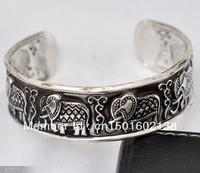 Tribe Jewellery Tibetan carved luck Elephant Cuff Bracelet