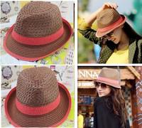 Free Shipping Ladies Girls  Women Fashion Hot Sale Straw Hat Cap Sunbonnet Sunner Hat  Outside Beach