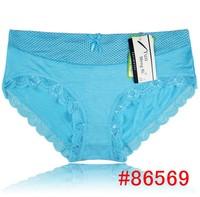 Polka dot women's comfortable bamboo fibre panties young girl print dot panties women's briefs