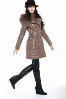 Fanny fashion down coat 2011 606 slim waist big caps