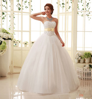 Hy tube top wedding dress lace decoration strap lacing paillette wedding dress