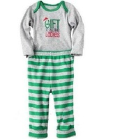 Free Shipping Carter's Infant Baby boy Christmas Romper set   100% cotton 2 Pieces Creeper Set