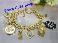 Free Shipping Charm Bracelet Pendant Bracelet Fashion Jewelry High Quality Package (Dust bag,Gift Box) #JCB085