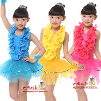 Free shipping Children dance  child princess dress performance wear dance clothes female child  dress tulle