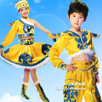 Child costume male female child costume  costume national costumes performance wear hair accessory