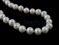 Free shipping!!!Natural Cultured Freshwater Pearl Jewelry Sets,Jewelry For Women, bracelet & necklace, Round, natural, white