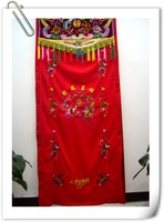 Curtailments married cloth , embroidery the bride supplies red curtain 90 200