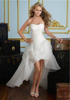 White strapless white organza Beach Bride Princess size 6-8-10-12-14
