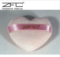 Beans zfc puff heart professional powder puff pink