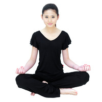Yoga clothes spring and summer short-sleeve modal set yoga clothing Women workout clothes