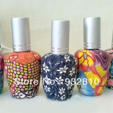 15ml Decorative Flower Painting Glass Fragrance Bottle Classic Perfume Bottle Design Lady 10 pcs/lot DC424(China (Mainland))