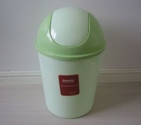 Circle cartoon health clamshell bucket plastic trash bucket