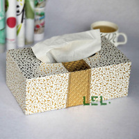 Large three-dimensional leather tissue box tissue pumping fashion luxury