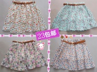 Bust skirt sweet polka dot vintage plus size chiffon pleated skirt puff skirt short skirt skorts female culottes