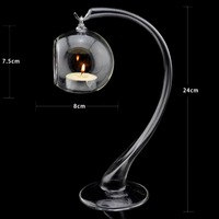 Fashion crystal glass mousse hollow ball lobbing opening hanging ball wedding candle table decoration