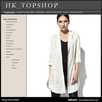 Fashion fashion all-match women's solid color three quarter sleeve suit jacket ha9209