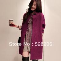 2013 NEW medium-long outerwear   underwear   Women's Wool Blends Coat   Free shipping