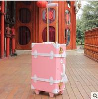 Vintage fashion of sidepiece vintage box trolley luggage bag travel bag box 22