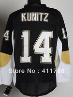 #18 James Neal #9 Pascal Dupuis #14 Chris Kunitz black penguins stitched ice hockey jerseys 2013