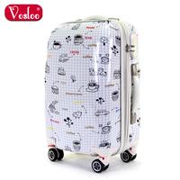 Female vosloo trolley luggage travel bag luggage bag 20 24 universal wheels