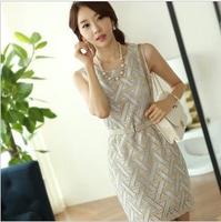2013 summer women's slim hip OL outfit elegant ladies one-piece dress