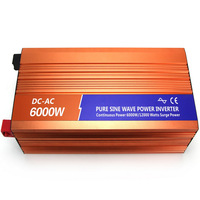 Pure sine wave inverter 12v 220v 6000w household air conditioning outdoor solar power supply