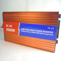 Pure sine wave inverter 12v 220v 2000w battery switching power car solar inverter