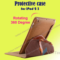 Genuine Leather Protective Cover Case for Apple iPad mini for iPad 4 rotating rotatable 360 degree cover Shockproof Anti-Dust