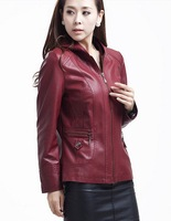 Женская одежда из кожи и замши 5XL large size female jacket coat 2013 woman slim leather coat long water washed for women